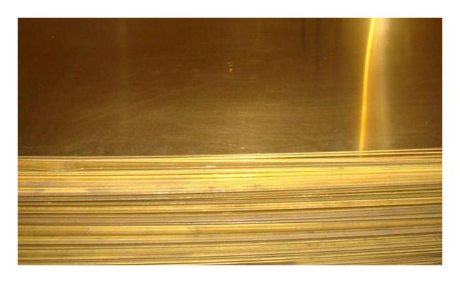 Лист латунный 4х600х1500мм ЛС59-1